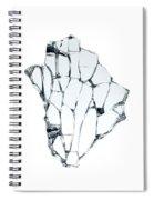 Broken Glass Spiral Notebook