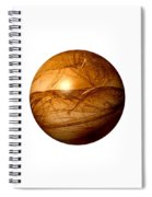Brown Abstract Globe Spiral Notebook