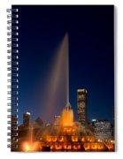 Buckingham Fountain Chicago Spiral Notebook