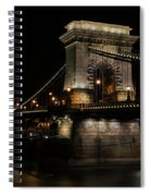 Budapest At Night. Spiral Notebook
