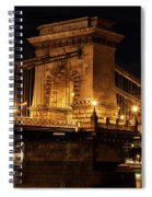 Budapest City By Night Spiral Notebook