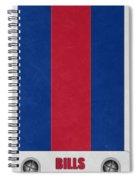 Buffalo Bills Helmet Art Spiral Notebook