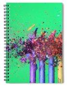 Bullet Hitting Crayons Spiral Notebook