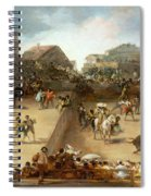 Bullfight In A Divided Ring Spiral Notebook