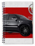 Cadillac Escalade With 3 D Badge  Spiral Notebook