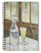 Cafe Table With Absinthe Spiral Notebook