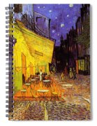 Cafe Terrace At Night Spiral Notebook