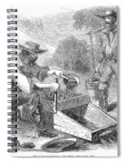 California Gold Rush, 1860 Spiral Notebook
