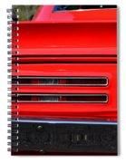 Firebird Tail Light Spiral Notebook
