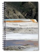 Canary Spring At Mammoth Hot Springs Upper Terraces Spiral Notebook