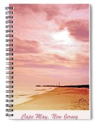 Cape May New Jersey, Sunset With Lighthouse In The Distance Spiral Notebook