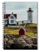 Cape Neddick Lighthouse 4 Spiral Notebook