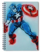 Captain America Spiral Notebook