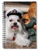 Captain Maltese Dog  Spiral Notebook