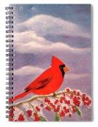 Cardinal Christmas Spiral Notebook