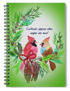 Cardinals Painted By Laurel Adams Spiral Notebook