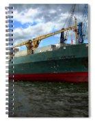 Cargo Ship Spiral Notebook