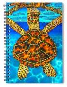 Caribbean Hawksbill Sea Turtle Spiral Notebook