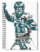 Carson Wentz Philadelphia Eagles Pixel Art 5 Spiral Notebook