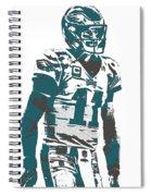 Carson Wentz Philadelphia Eagles Pixel Art 6 Spiral Notebook