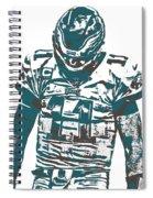 Carson Wentz Philadelphia Eagles Pixel Art 7 Spiral Notebook