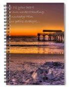 Castles In The Sand 2 Tybee Island Pier Sunrise Spiral Notebook