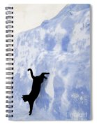 Cat Jumping From A Wall Spiral Notebook