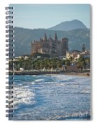 Cathedral And City Beach With People  Spiral Notebook