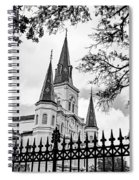 Cathedral Basilica - Square Bw Spiral Notebook