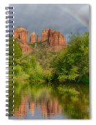 Cathedral Rock Rainbow Spiral Notebook