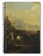 Cavalry Attacking A Fortified Place Spiral Notebook