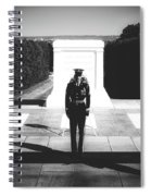 Changing Of The Guard At The Tomb Of The Unknowns At Arlington Spiral Notebook