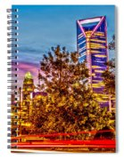 Charlotte City Skyline Early Morning At Sunrise Spiral Notebook