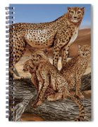 Cheetah Family Tree Spiral Notebook