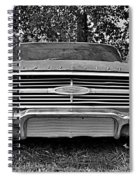 Chevrolet Bel Air Black And White 2 Spiral Notebook