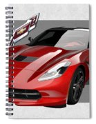 Chevrolet Corvette  C 7  Stingray With 3 D Badge  Spiral Notebook