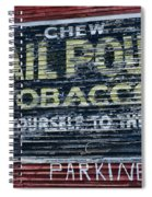 Chew Mail Pouch Tobacco Ad Spiral Notebook