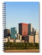 Chicago Downtown At Sunrise Spiral Notebook