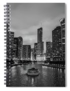 Chicago River Sunset Spiral Notebook