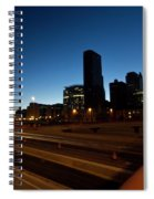Chicago Skyline At Dawn Spiral Notebook