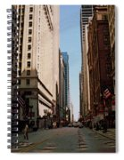 Chicago Street With Flags Spiral Notebook
