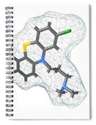 Chlorpromazine, Molecular Model Spiral Notebook