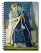 Christ And His Mother Studying The Scriptures Spiral Notebook