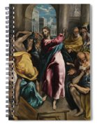 Christ Driving The Traders From The Temple Spiral Notebook