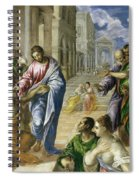 Christ Healing The Blind Spiral Notebook