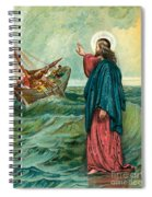 Christ Walking On The Sea Spiral Notebook
