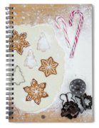 Christmas Interior With Sweets And Vintage Kitchen Tools Spiral Notebook