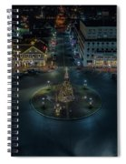 Christmas Lights, Looking North Spiral Notebook