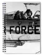 Chuck Yeager, Usaf Officer And Test Spiral Notebook