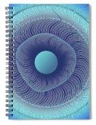Circular Abstract Art Spiral Notebook